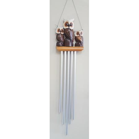 Owl family aluminium wind chimes - WORLD OF DECOR