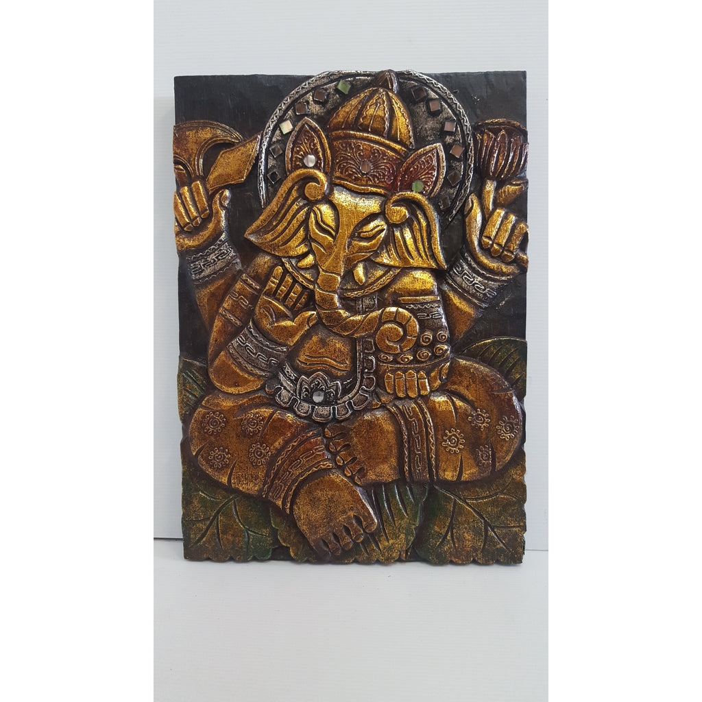 Ganesh wall decor- 3 colour to choose - WORLD OF DECOR