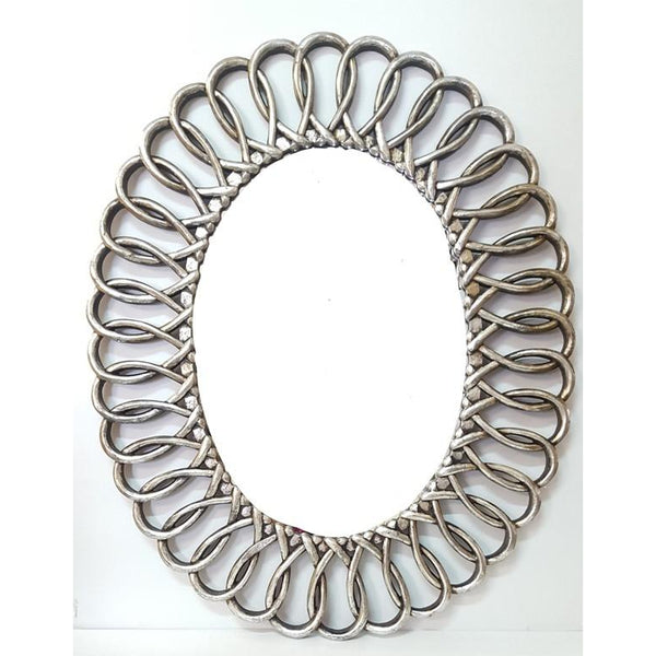 Wooden oval Mirror - WORLD OF DECOR