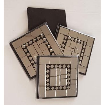 Mirrored Mosaic Coasters Set of 4 - WORLD OF DECOR