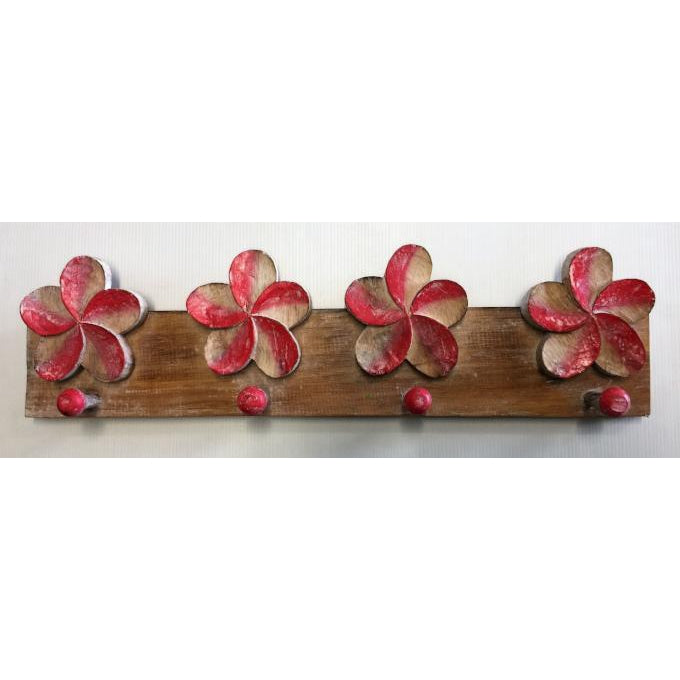 FRANGIPANI FLOWER HOOKS-5 colour - WORLD OF DECOR
