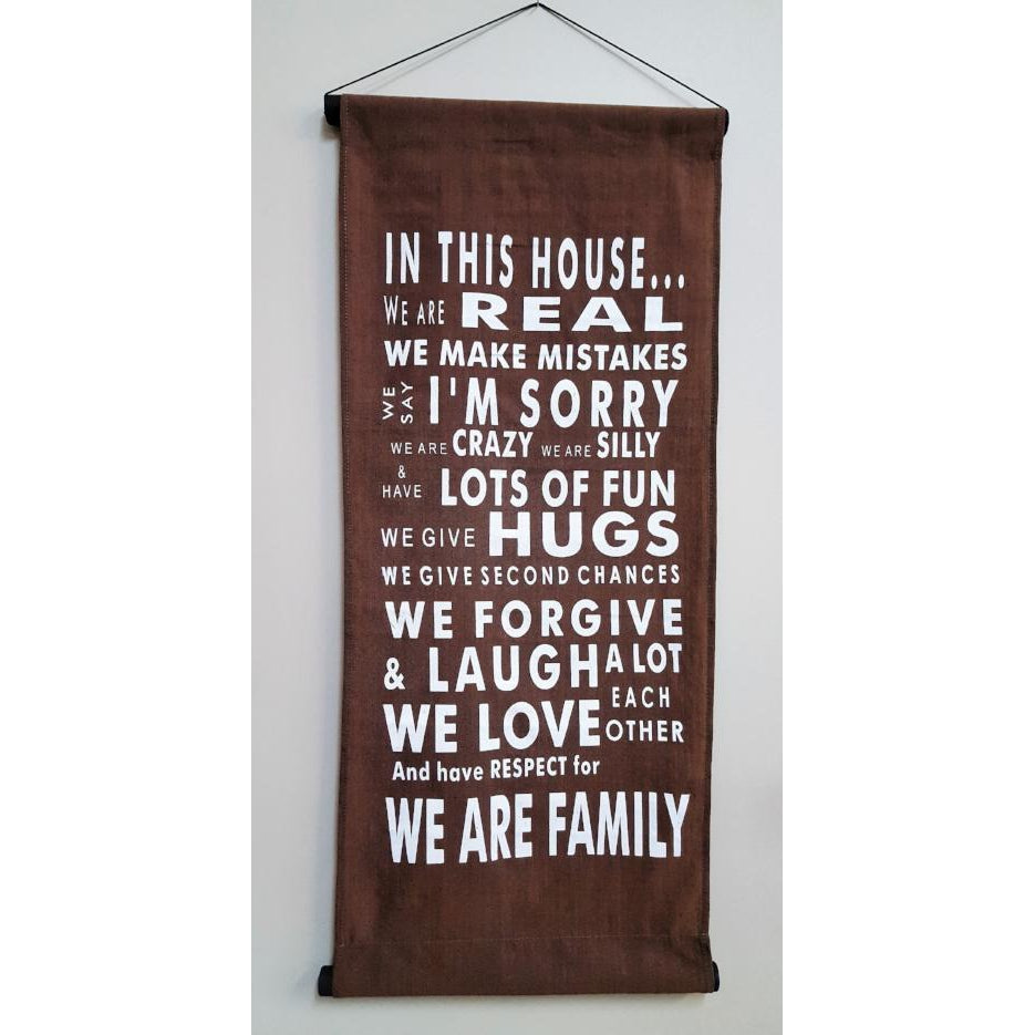 HANGING AFFIRMATION IN THIS HOUSE - WORLD OF DECOR