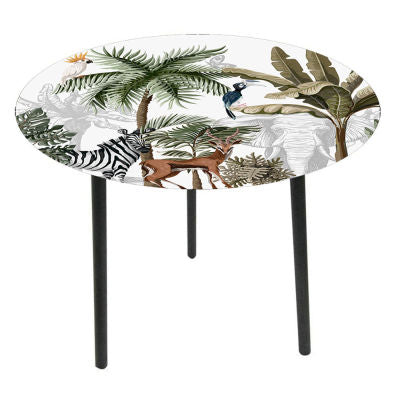 Glass top side tables-Jungle - WORLD OF DECOR