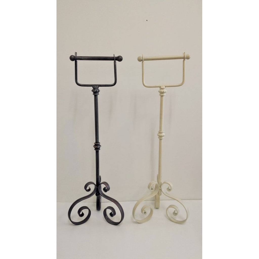 FREE STANDING TOILET ROLL HOLDER STAND 75cm-2 colour - WORLD OF DECOR