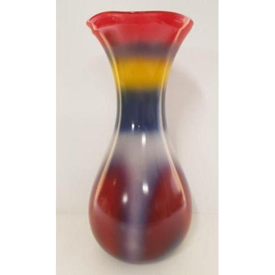 RECYCLED GLASS VASE, MULTI COLOUR - WORLD OF DECOR