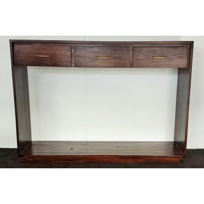TEAK MODERN OPEN HALL TABLE - WORLD OF DECOR