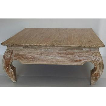 TEAK RUSTIC OPIUM COFFEE TABLE SQUARE - WORLD OF DECOR