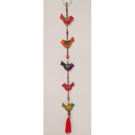 HAND CRAFTED FABRIC MOBILE BIRDS - WORLD OF DECOR