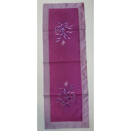 Fabric & silk table runner-PURPLE COMBO - WORLD OF DECOR