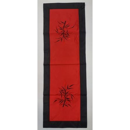 Fabric & silk table runner-, RED COMBO - WORLD OF DECOR