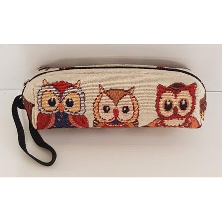 KIDS PENCIL CASE OWLS ON A BRANCH - WORLD OF DECOR