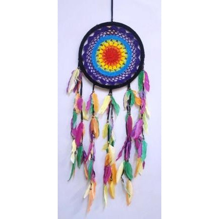 Crochet dream catcher-Rastafarian 27cm - WORLD OF DECOR