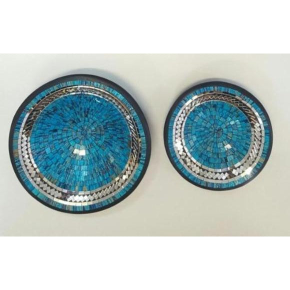 MOSAIC BLUE MIRRORED INLAY BOWLS - WORLD OF DECOR