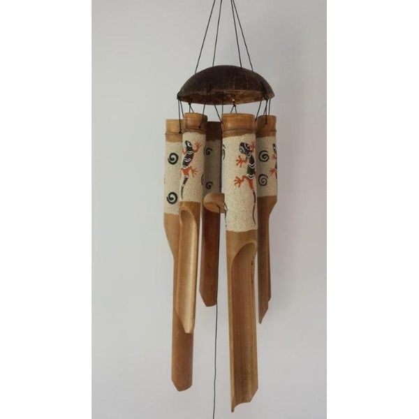 GHECKO WIND CHIMES BAMBOO - WORLD OF DECOR