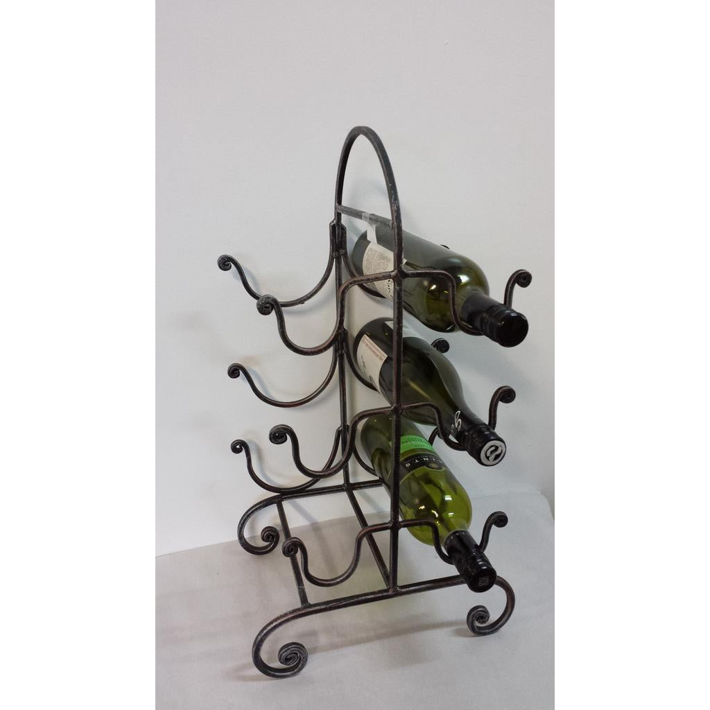 IRON WINE RACK - WORLD OF DECOR