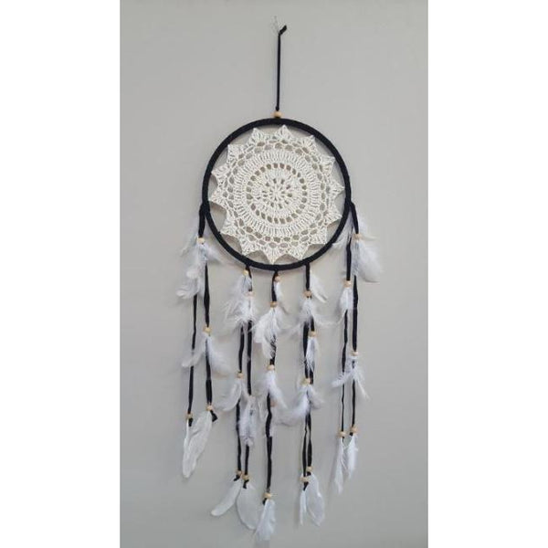 Crochet dreamcatcher black 22CM - WORLD OF DECOR