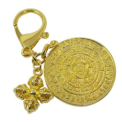 Life Force Chakra Energiser w Dorje key chain - WORLD OF DECOR