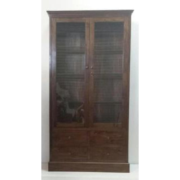 TEAK GLASS DISPLAY CABINET - WORLD OF DECOR