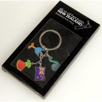 KIWIANA KEYRING W/CHARMS - WORLD OF DECOR