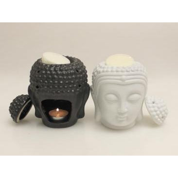 Oil burner Buddha head-2 colour to choose - WORLD OF DECOR