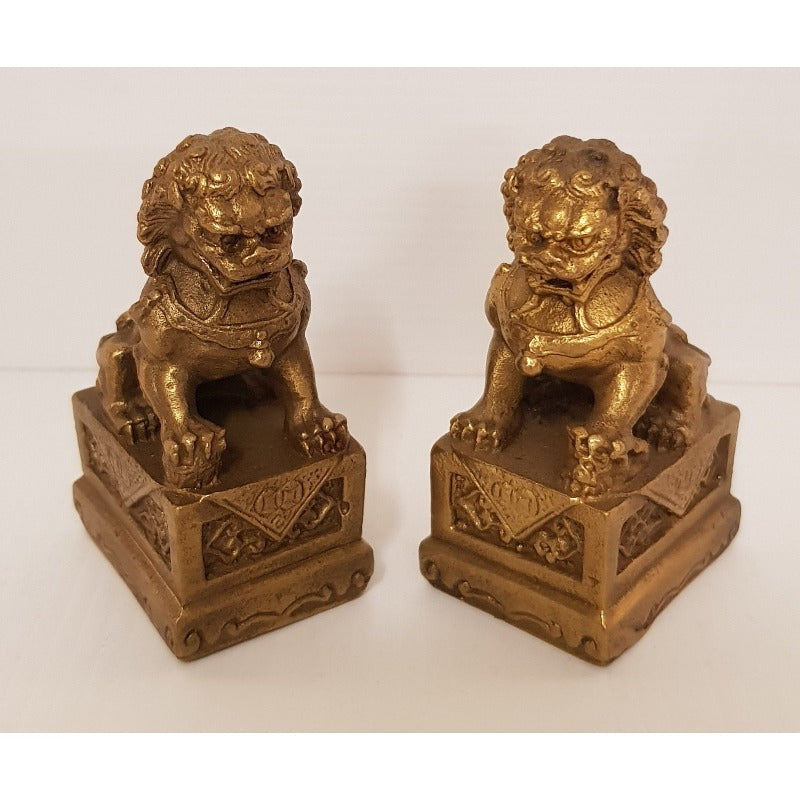 Brass fu dog set - WORLD OF DECOR