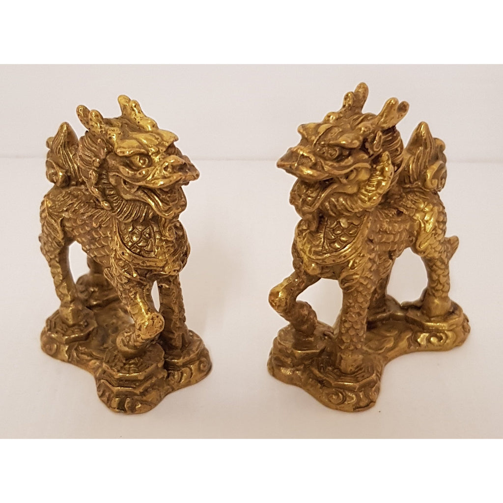 Brass Chi Lin/Dragon Horse - WORLD OF DECOR