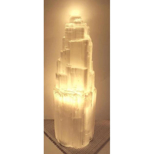 Selenite crystal lamp 25CM - WORLD OF DECOR