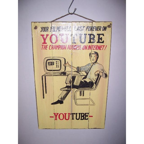 YOUTUBE WALL HANGING - WORLD OF DECOR