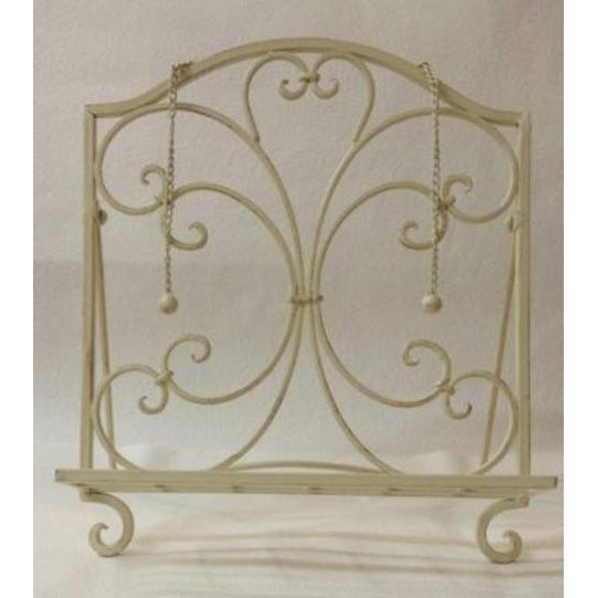 FRENCH CREME METAL RECIPE BOOK HOLDER- 2 COLOUR - WORLD OF DECOR