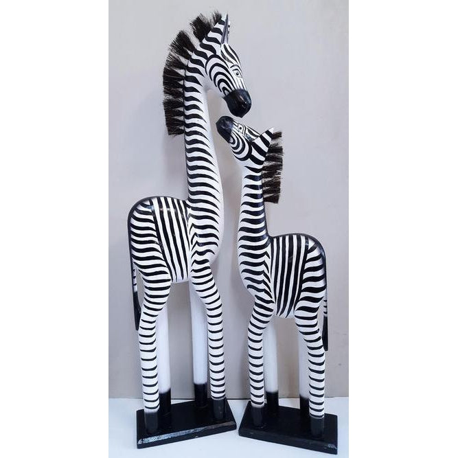 WOODEN ZEBRAs, 2 SIZES TO CHOOSE FROM. - WORLD OF DECOR