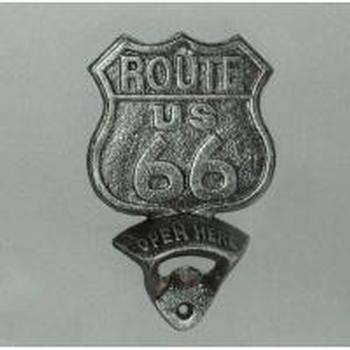 WALL MOUNTED BOTTLE OPENER-ROUTE 66 - WORLD OF DECOR