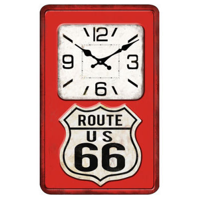 Route 66 Glass Clock - WORLD OF DECOR