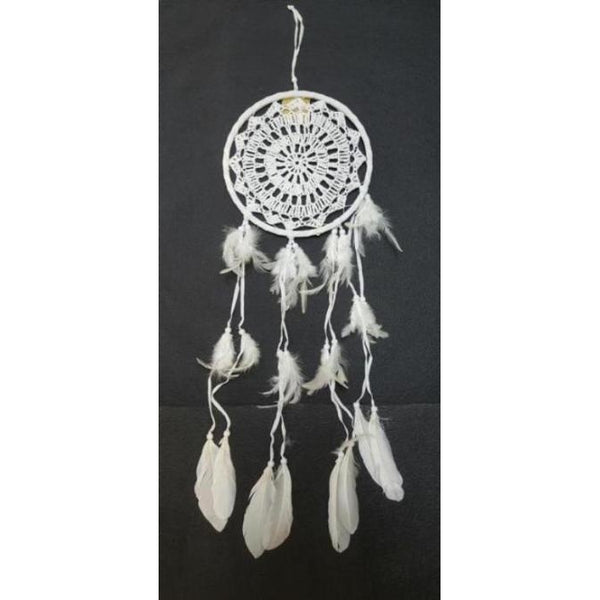 Crochet dreamcatcher white  22CM - WORLD OF DECOR