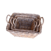 Rattan Rectangular basket-3 size to choose - WORLD OF DECOR