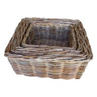 Rattan Rectangular basket deep-4 size to choose - WORLD OF DECOR