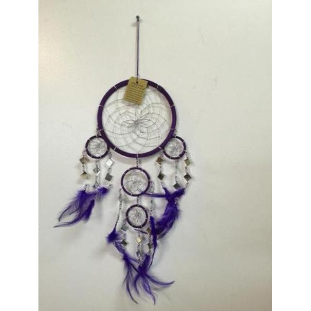 MIRROR DREAM CATCHERS-6 COLOURS - WORLD OF DECOR