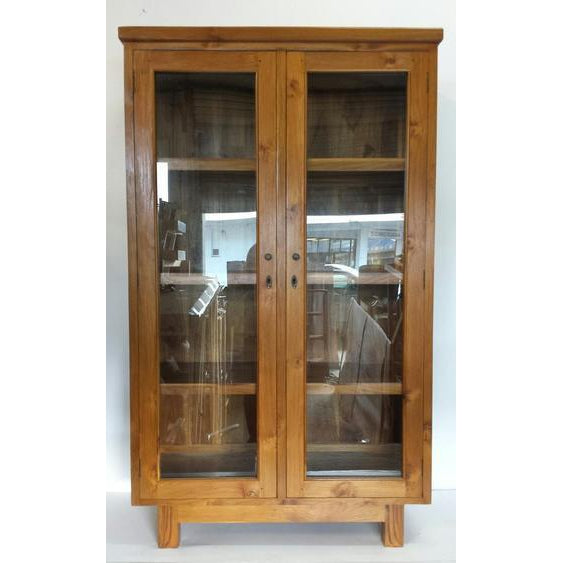 TEAK CHINA CABINET - WORLD OF DECOR
