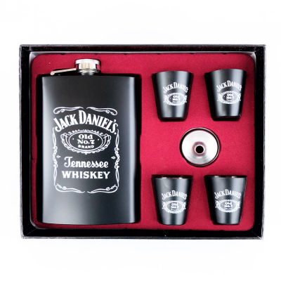 Hip Flask Set-Jack Daniels