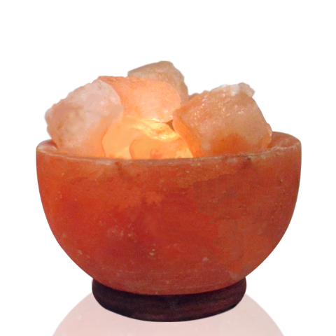 Bowl of fire Himalayan Salt lamp - WORLD OF DECOR