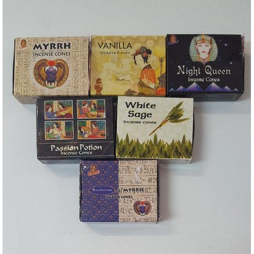 Incense cones -over 10 fragrance - WORLD OF DECOR