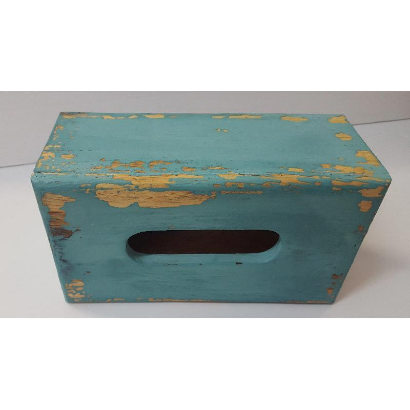 Tissue box cover-Turquoise color - WORLD OF DECOR