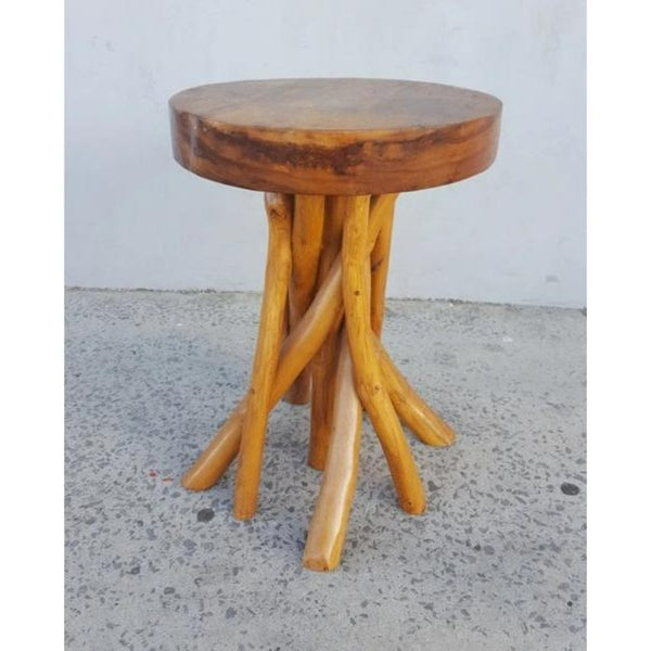 Rustic side table/chair-Natural - WORLD OF DECOR