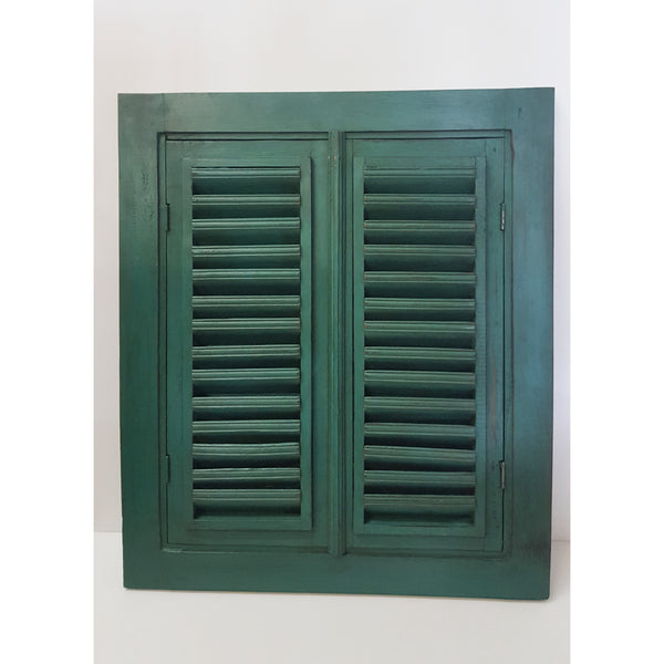 Shutter Jail mirror-Green - WORLD OF DECOR