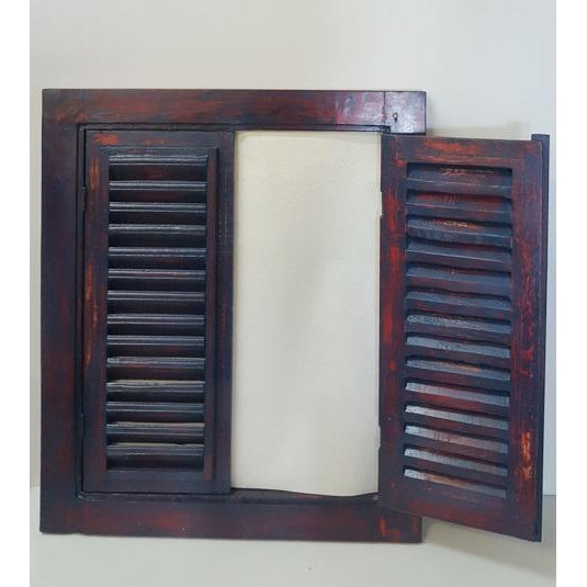 Shutter Jail mirror-Blue mix red - WORLD OF DECOR