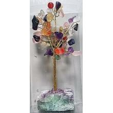 Gemstone Tree Crystal Base Gemstone-Mixed stone - WORLD OF DECOR