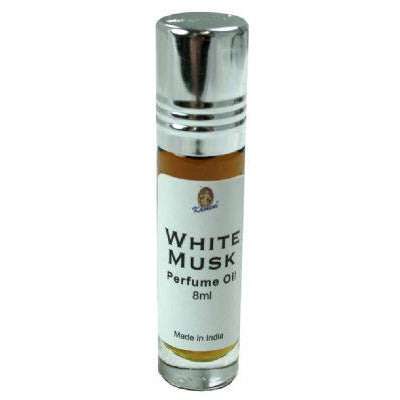 Kamini Perfume Oil 8ml Roll-On Bottle, White Musk - WORLD OF DECOR