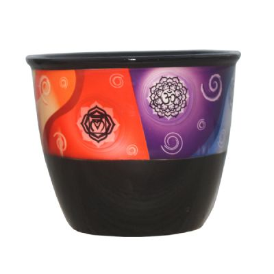 Ceramic smudge stick pot-Charka - WORLD OF DECOR