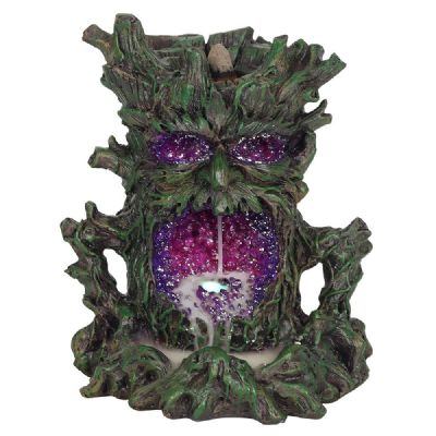 Backflow Incense Burn- Green Tree Man with Led light - WORLD OF DECOR