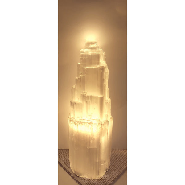 Selenite crystal lamp 40CM - WORLD OF DECOR