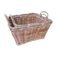 ROPE RECTANGULAR CANE  BASKET - WORLD OF DECOR